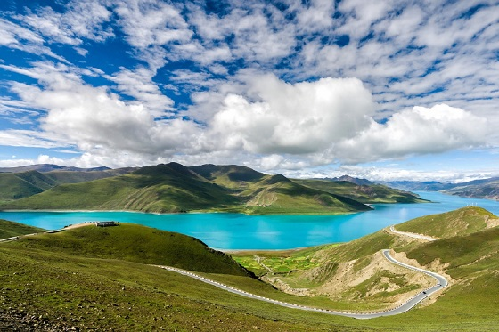 Tibet - sheep table Yong Lake_560X373